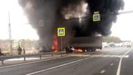 Во Владимирской области в аварии погиб водитель загоревшейся фуры